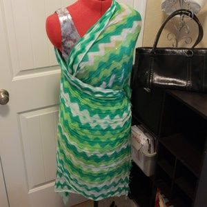 Accessories - NWT Lovely Greens Chevron Scarf/Sarong